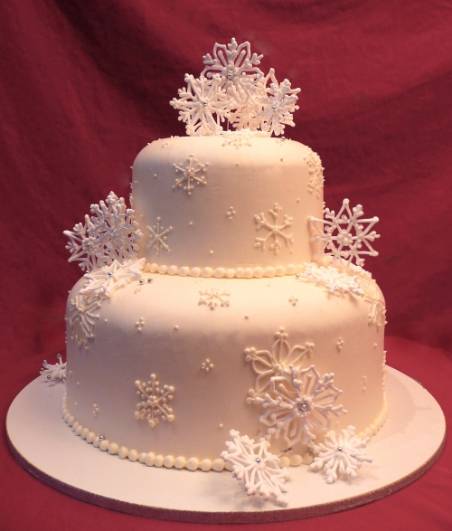 Snow Birthday Cake